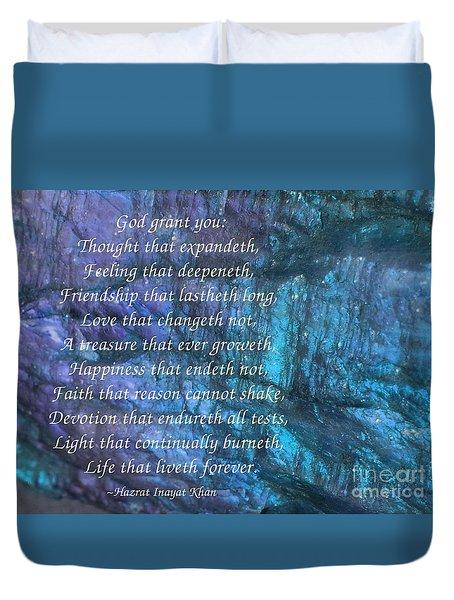 Blessing Duvet Cover