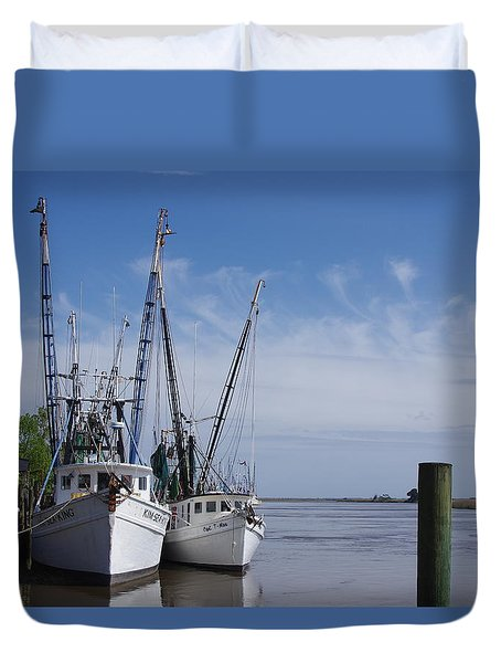 Blessing Of The Fleet Duvet Cover by Greg Graham
