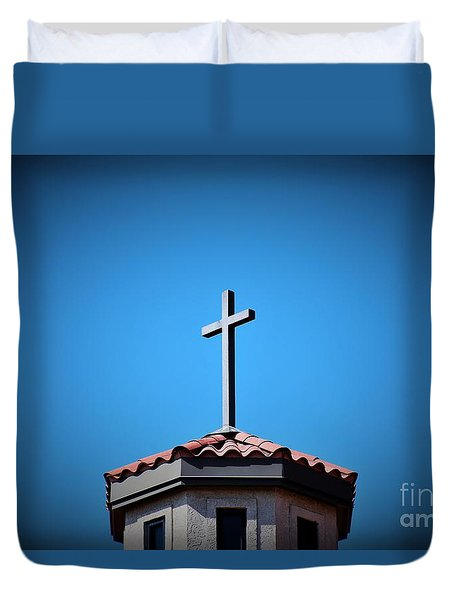 Duvet Cover featuring the photograph Blessings To Everyone Of All Faiths by Ray Shrewsberry