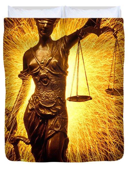 Blind Justice  Duvet Cover