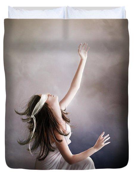 Blind Duvet Cover by Mary Hood