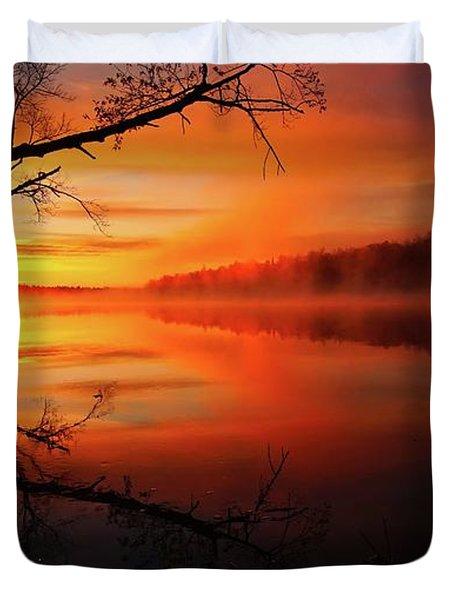 Blind River Sunrise Duvet Cover