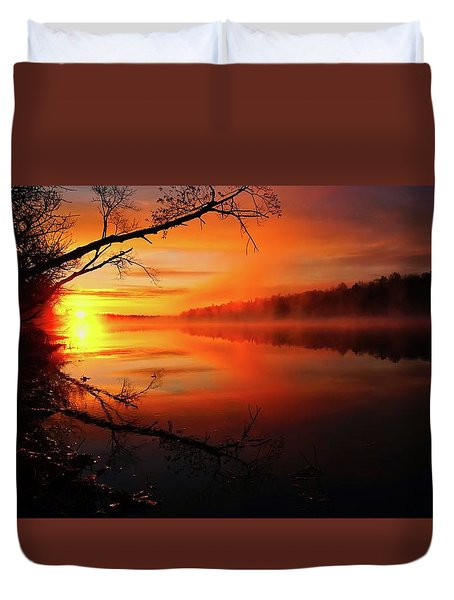 Blind River Sunrise Duvet Cover