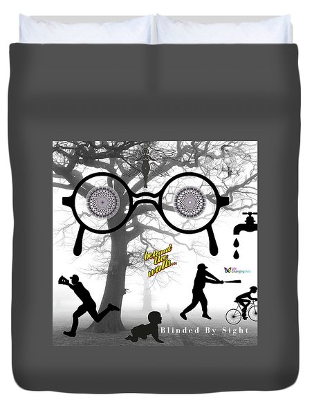 Blinded By Sight Duvet Cover