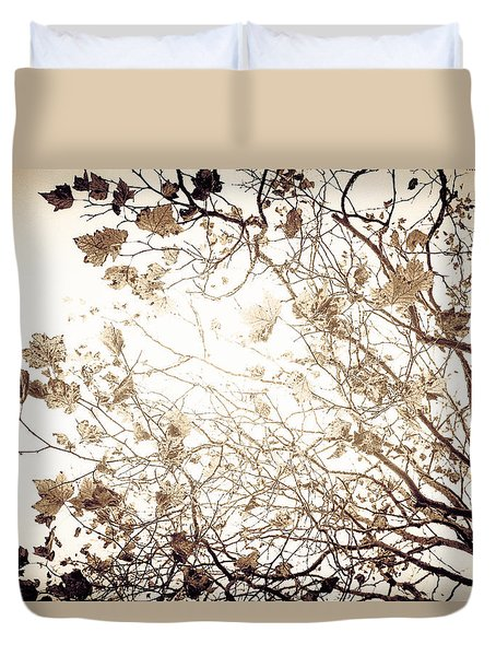 Duvet Cover featuring the photograph Blinding Sun by Lora Lee Chapman