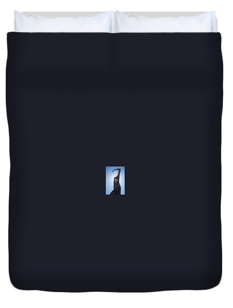 Duvet Cover featuring the photograph Bliss Dancer by Lora Lee Chapman