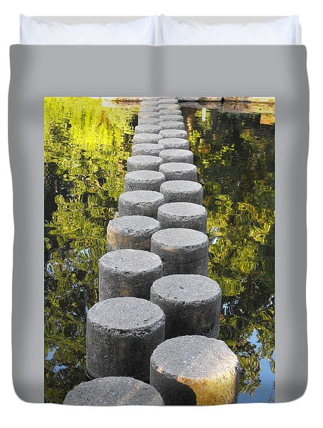 Blissful Path Of Tranquility Duvet Cover
