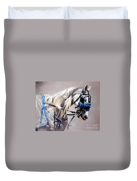 Blizzard Babe Duvet Cover by Carrie L Lewis