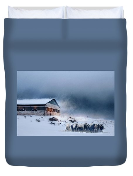 Blizzard Bliss Duvet Cover