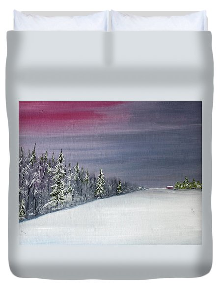 Blizzard Coming Duvet Cover