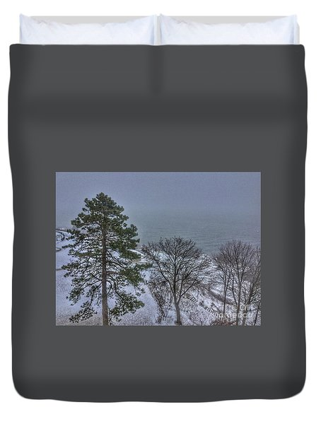 Blizzard Stella On Casco Bay Duvet Cover
