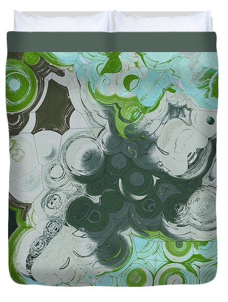 Duvet Cover featuring the digital art Blobs - 13c9b by Variance Collections