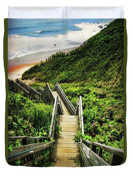 Block Island Duvet Cover by Lourry Legarde