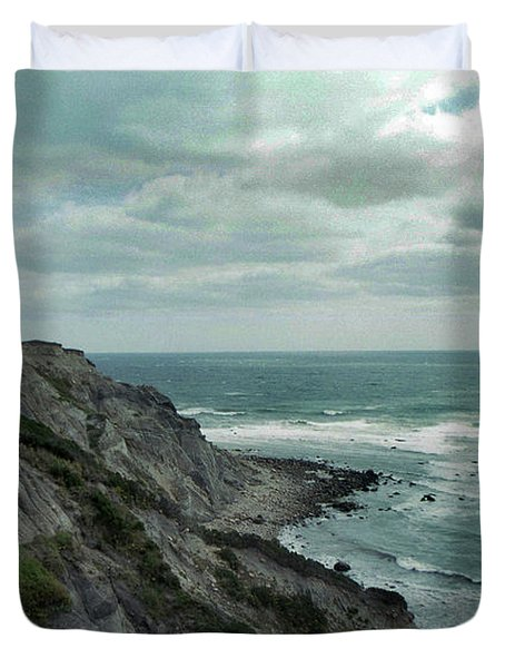 Block Island South East Lighthouse Duvet Cover