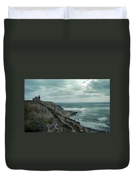 Block Island South East Lighthouse Duvet Cover