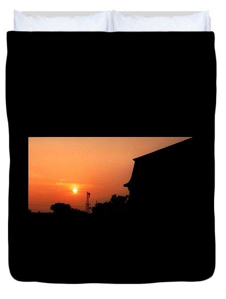 Block Island Sunset Duvet Cover