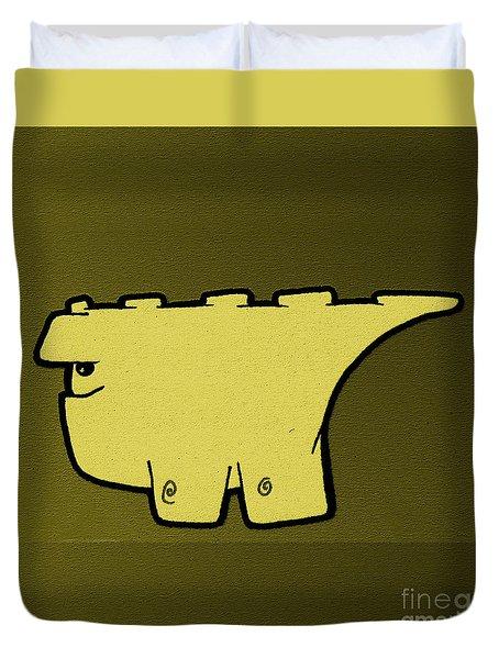 Blockasaurus Duvet Cover