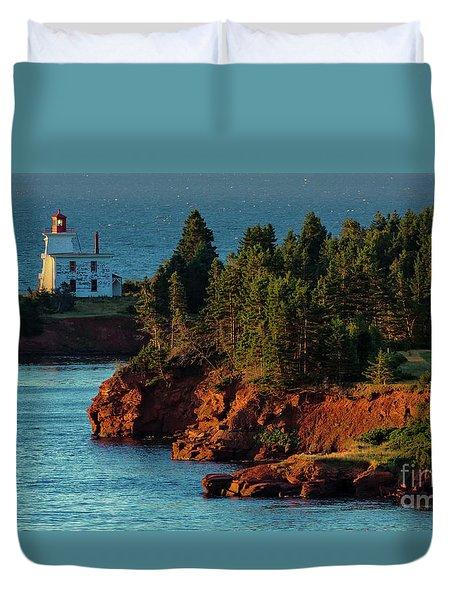 Blockhouse Point Lighthouse Duvet Cover