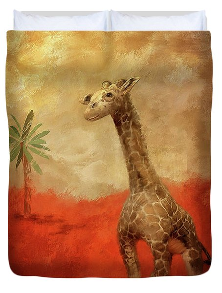 Duvet Cover featuring the digital art Block's Great Adventure by Lois Bryan