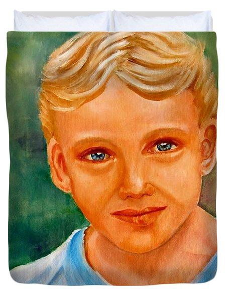 Blonde Boy Duvet Cover