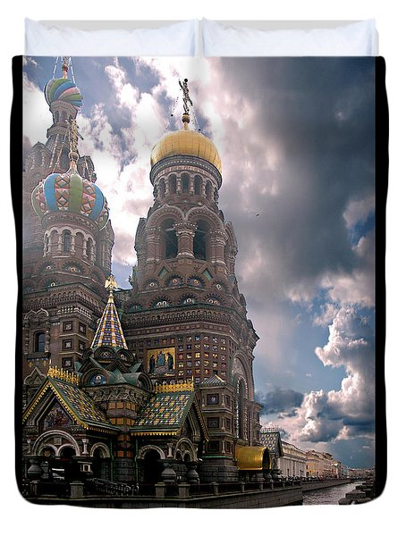 Duvet Cover featuring the photograph Blood Church - My Take by Jeff Burgess
