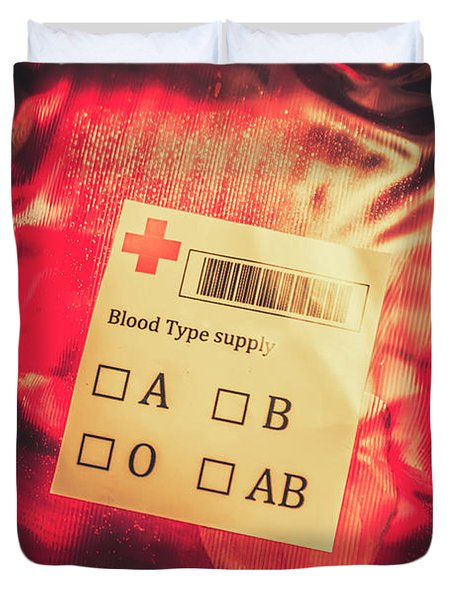 Blood Donation Bag Duvet Cover