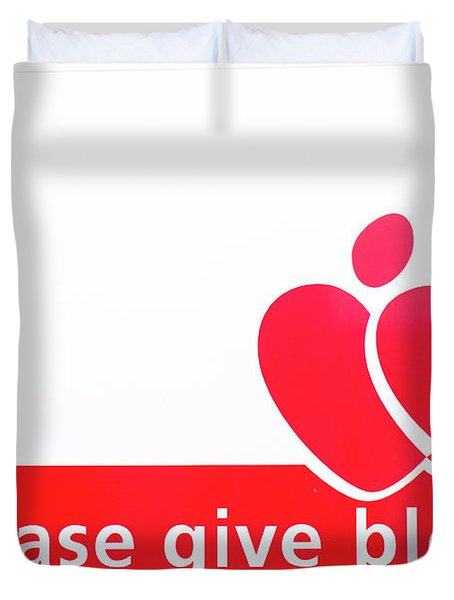 Blood Donor Appeal Duvet Cover