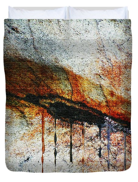 Blood From A Stone Duvet Cover by RC deWinter