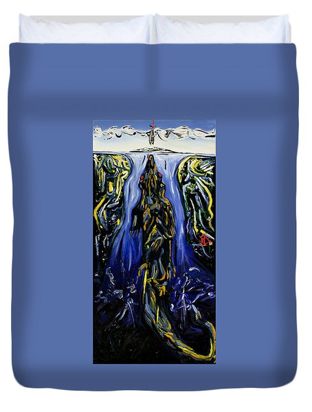 Blood Gulch Duvet Cover by Ryan Demaree