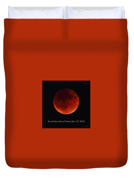 Blood Moon #4 Of Tetrad, Without Location Label Duvet Cover