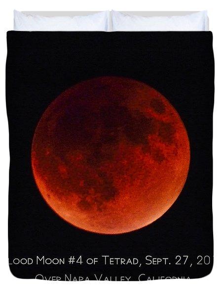 Blood Moon #4 Of 2014-2015 Tetrad Duvet Cover