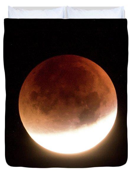 Blood Moon Eclipse Duvet Cover