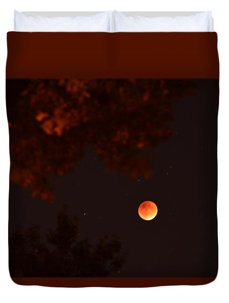 Blood Moon Jewish New Year Duvet Cover