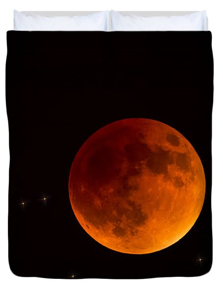 Blood Moon Lunar Eclipse 2015 Duvet Cover