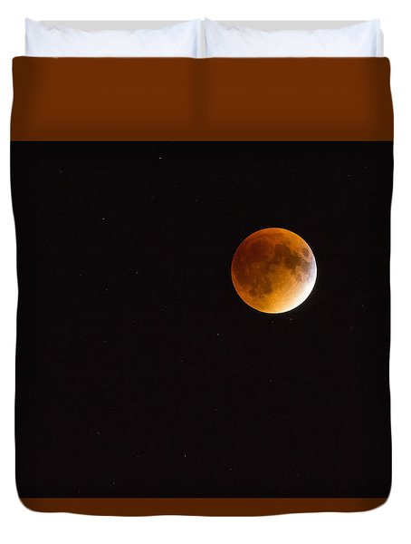 Blood Moon Luna Eclipse Duvet Cover by Michael Hubley