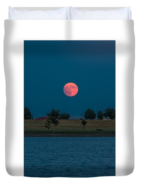 Blood Moon Rising Duvet Cover