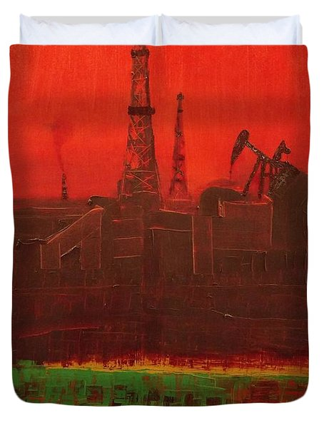 Blood Of Mother Earth Duvet Cover