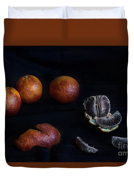 Blood Orange Symphony Duvet Cover