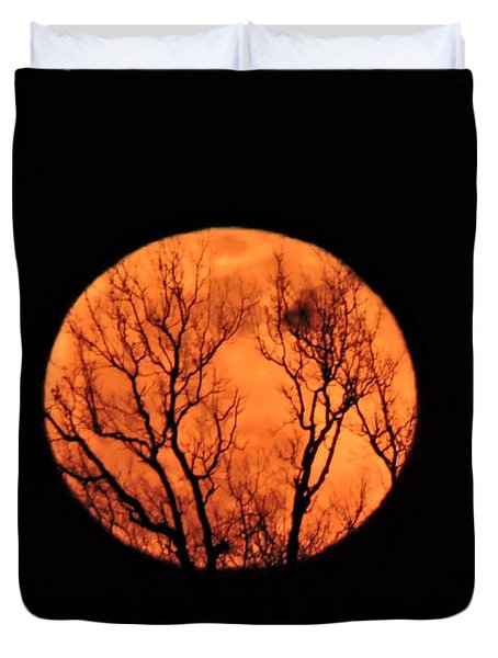 Blood Red Moon Duvet Cover