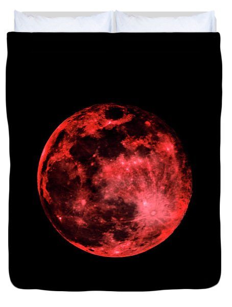 Blood Red Moonscape 3644b Duvet Cover