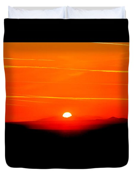Blood Red Sunset Duvet Cover