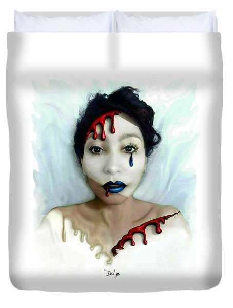 Blood Sweat Tears Faced Duvet Cover