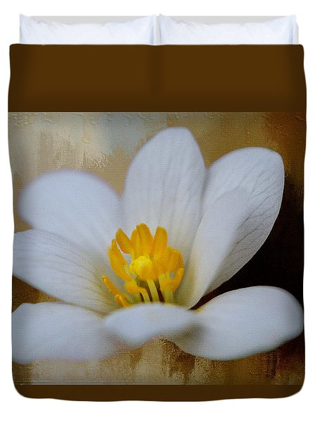 Bloodroot Duvet Cover by Diana Boyd