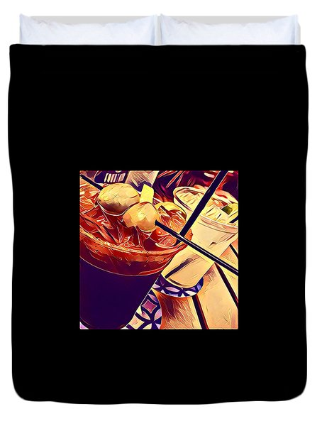 Bloody Mary And Moscow Mule Duvet Cover by Frush Photos