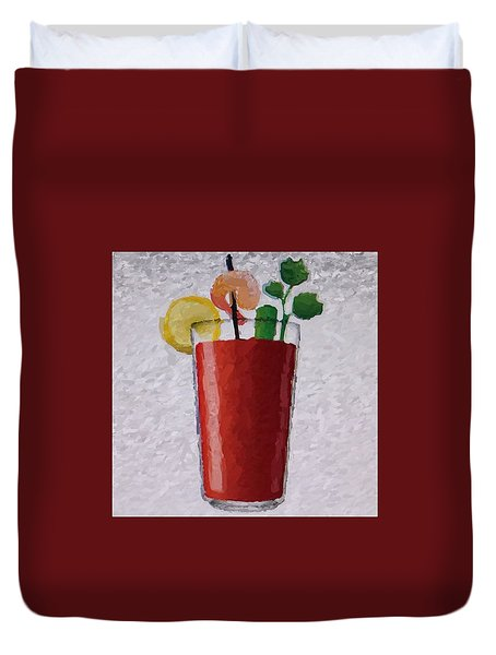 Bloody Mary Emoji Duvet Cover by  Judy Bernier