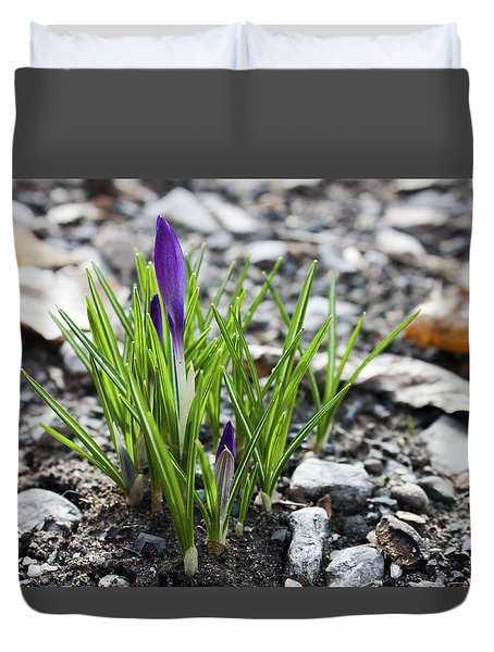 Bloom Awaits Duvet Cover by Jeff Severson