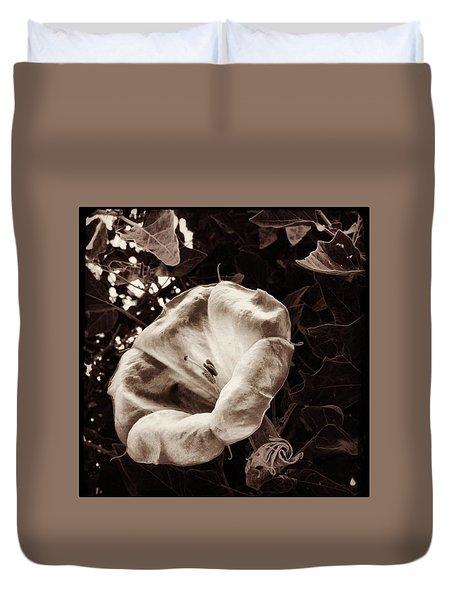 Bloom In Sepia Duvet Cover