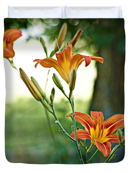 Bloom Where You're Planted Duvet Cover by Cricket Hackmann