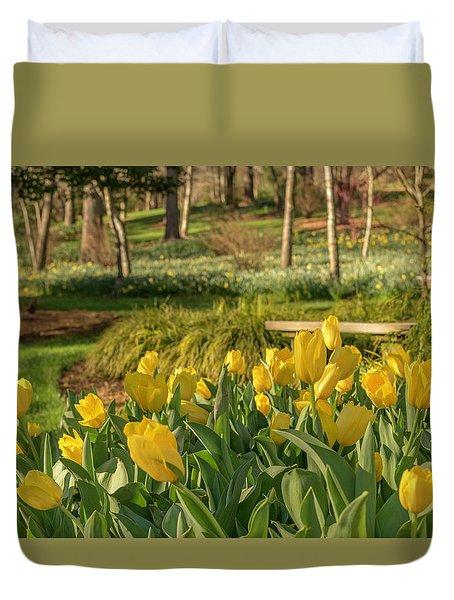 Bloomin Tulips Duvet Cover