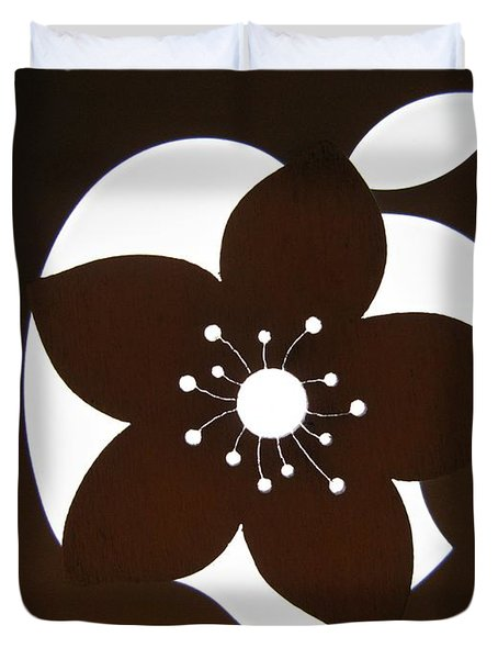 Blooming Apple Mac Duvet Cover